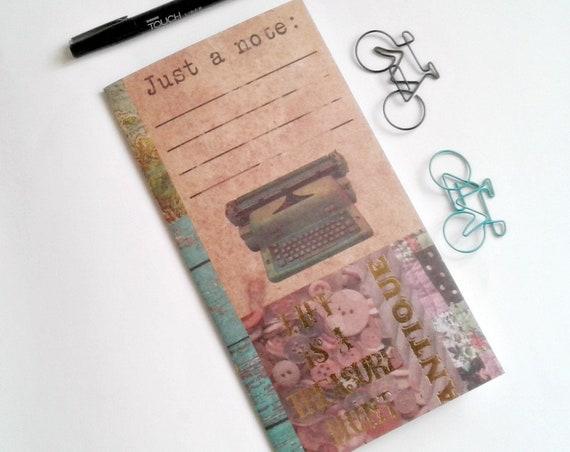 NOTE Traveler's Notebook Insert - Midori Insert - Fauxdori - Gold Foil Insert - Traveler's Journal - Personal Diary B6 A6 - N501
