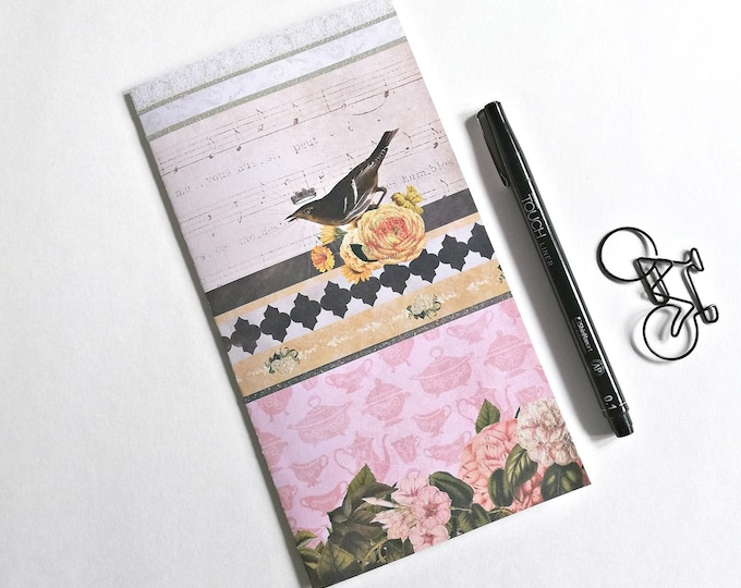 BIRD Travelers Notebook Insert - Fauxdori Midori Insert - TN Refill Accessories - Nature, Spring - 10 Sizes - N572