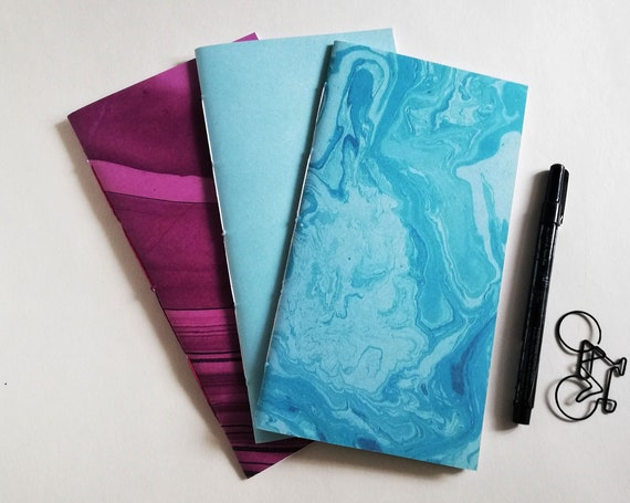 3 x Regular Traveler's Notebook Inserts, Choice of Cover and Pages, Standard Regular Size 4.33 x 8.25 in, 11 x 21 cm, Fauxdori Refill -RM301