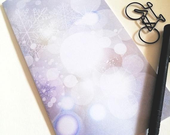 Traveler Notebook Insert BOKEH - 11 Sizes include Regular Standard A5 Wide B6 Slim Personal A6 Pocket Passport Micro Nano Blue Purple - N606