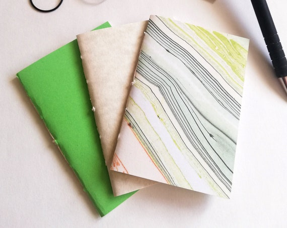 3 x NANO Traveler's Notebook Inserts - CHOICE of Covers - Nano 3.75 x 2.5 - Fauxdori - RM201