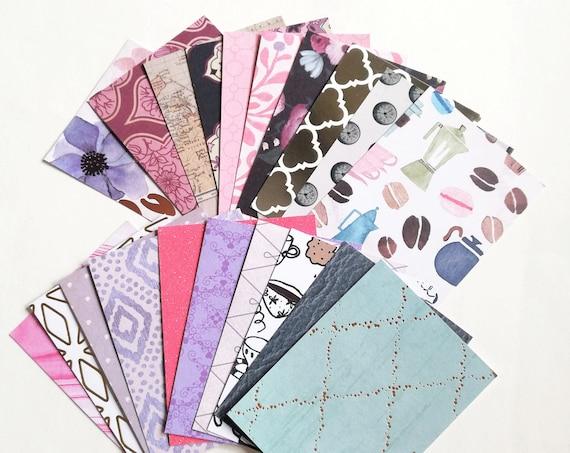 Journal Cards - 40 to 220 cards - assorted supply - Junk Journal Scrapbook - Travelers Notebook Ephemera Craft Mixed Media Card Stock - E003