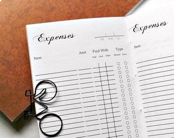 EXPENSE TRACKER Traveler's Notebook Insert - Midori Insert - Travellers Notebook Insert - Finance Planner Insert - Expense Planner - C006