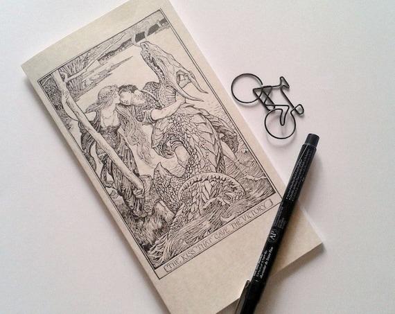 Travelers Notebook Insert - The Kiss - Fauxdori Midori Insert - Lined Dot Grid Blank - Standard B6 Slim more - Fairy Tale - N134