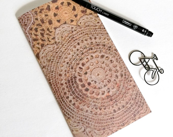 CROCHET Travelers Notebook Insert - Fauxdori Midori Insert - TN Refill Accessory - Doily Knitting Journal - 10 Sizes - N543