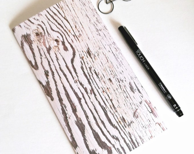 WOOD Travelers Notebook Insert - Fauxdori Midori Insert - TN Refill Accessory - Industrial Neutral - 9 Sizes - N536