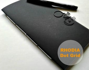 Rhodia Dot Grid Traveler's Notebook Insert - Hand-stitched - Choice of 9 Sizes - N309