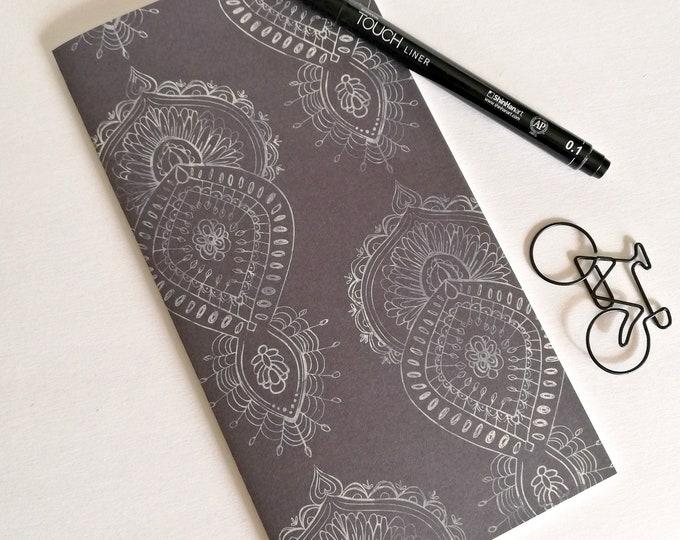 Travelers Notebook Insert - Fauxdori Midori Insert - TN Refill Accessory - Dark Bluish Blackish - 10 Sizes - N547