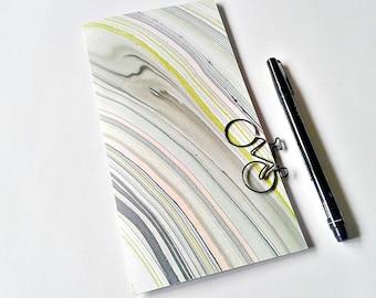 PINK and LIME MARBLE Traveler's Notebook Insert, Bullet Journal, Gratitude Insert, Midori Insert, Personal Log, Midori Accessories - N242