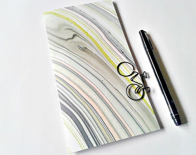 PINK and LIME MARBLE Traveler's Notebook Insert, Bullet Journal, Gratitude Insert, Midori Insert, Personal Log, Midori Accessories - N242