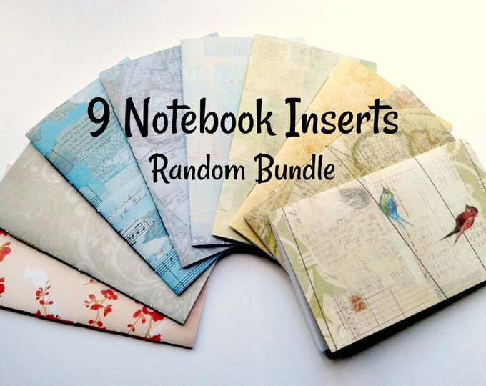 SET of 9 - Travelers Notebook Inserts - Bulk Bundle of 9 Random TN Inserts - Fauxdori Midori Inserts - Set of Midori Refills - RM100