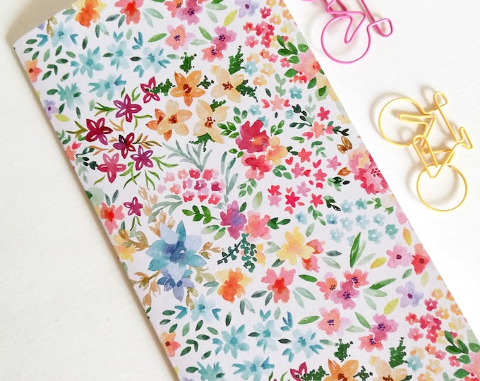 FLOWERS Travelers Notebook Insert - Fauxdori Midori Insert - TN Refill Accessory - Floral - 9 Sizes - N534