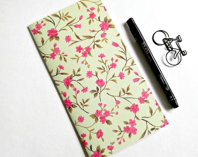 Travelers Notebook Insert PINK FLOWER Travelers Notebook Insert Regular Standard A5 Wide B6 Personal A6 Field Notes Passport Micro - N564