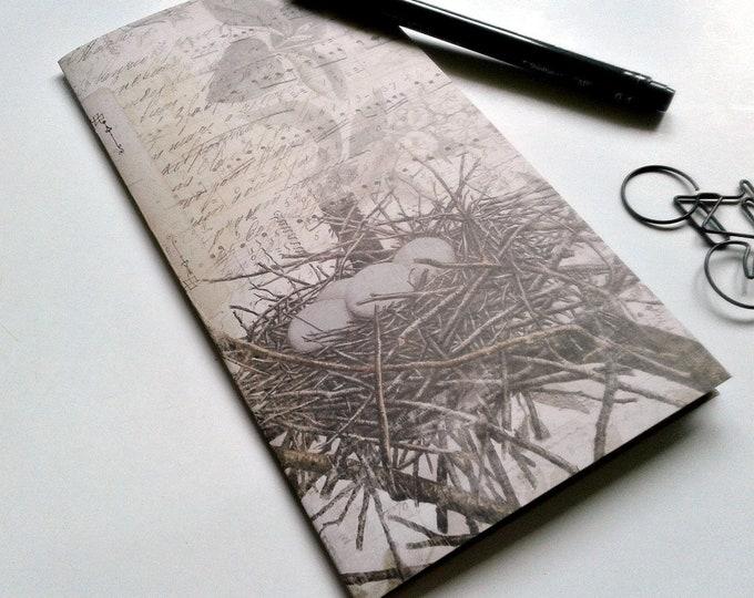 THE NEST - Travelers Notebook Insert - Midori Refill - TN Accessory -  Regular Standard A5 B6 Personal A6 Field Notes Passport Micro - N393