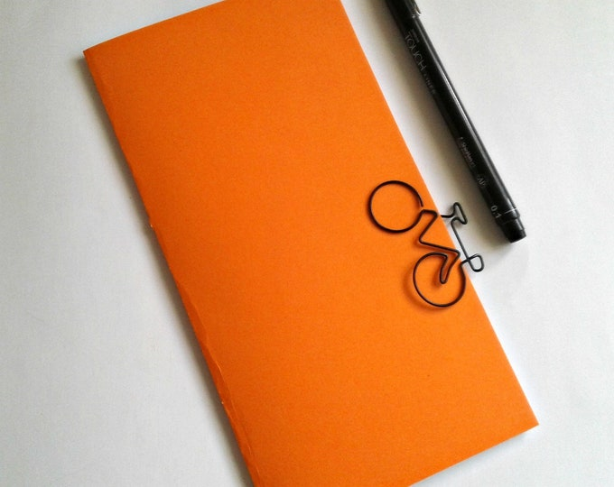 ORANGE Travelers Notebook Insert - Midori Insert - A5 Regular Standard Wide B6 Personal A6 Pocket Field Notes Passport Micro PUMPKIN - N517