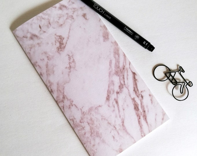 MARBLE Travelers Notebook Insert - Fauxdori Midori Insert - TN Refill Accessory - White Marble - 10 Sizes - N549