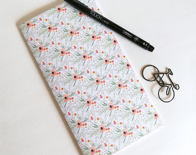 FLOWERS Travelers Notebook Insert - Fauxdori Midori Insert - TN Refill Accessory - Flowers - 9 Sizes - N534