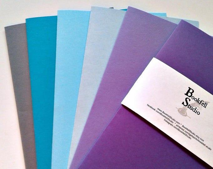 Traveler's Notebook Insert - Turquoise Purple Grey - Bullet Journal Insert - Fauxdori Insert - Midori Insert - Personal TN Insert - N322