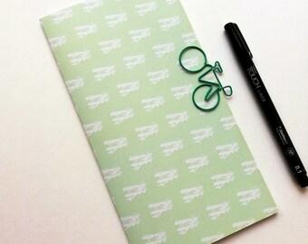 GREEN AIRPLANES Travelers Notebook Insert - Midori Insert - Regular Standard Wide B6 Personal A6 Pocket Field Notes Passport Green - N528