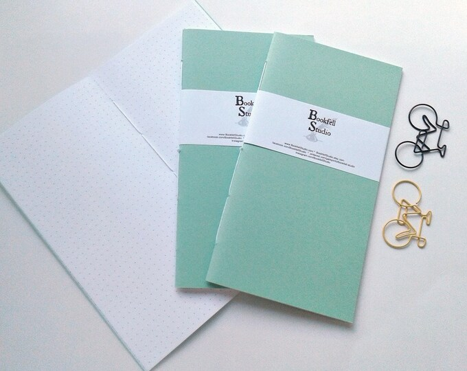 Midori Insert MINT GREEN Travelers Notebook Insert Regular Standard Wide B6 Personal A6 Pocket Field Notes Passport Micro - N430