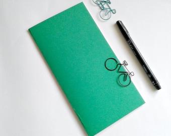 GREEN Travelers Notebook Insert - Midori Insert - A5 Regular Standard Wide B6 Personal A6 Pocket Field Notes Passport Micro Jade - N506