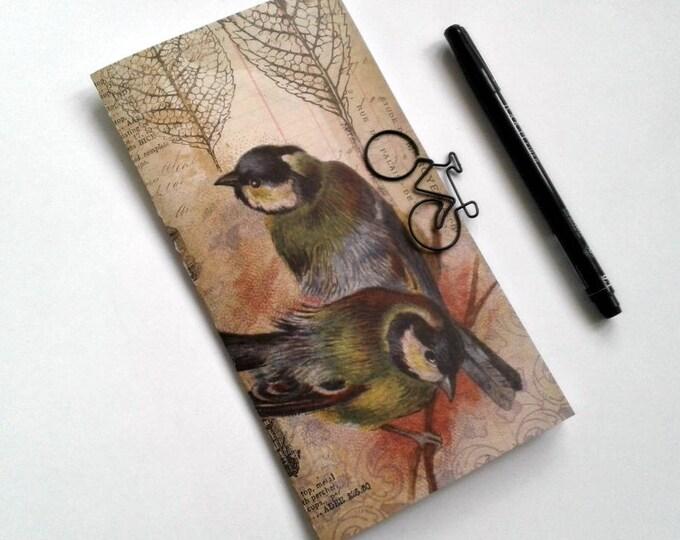 Midori Insert VINTAGE BIRDS Travelers Notebook Insert Regular Standard A5 Wide B6 Personal A6 Pocket Field Notes Passport Micro - N369