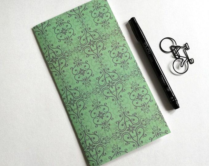 GREEN Travelers Notebook Insert - Fauxdori Midori Insert - TN Refill Accessory - Emerald Moss Green Insert - 10 Sizes including A5 - N571