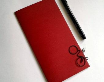 FIREBRICK RED Travelers Notebook Insert - Midori Insert - Regular Standard Wide B6 Personal A6 Pocket Field Notes Passport Micro Red - N515