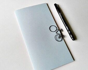 Traveler's Notebook Insert - BLUE - Midori Insert - Regular Standard Wide B6 Personal A6 Pocket Field Notes Passport Micro  - N281