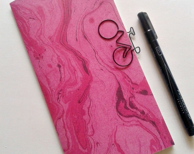 PINK MARBLE Traveler's Notebook Insert - Fauxdori Midori Insert -  TN Insert Refill - Printed with Lined Dotted Dot Grid Blank pages - N183