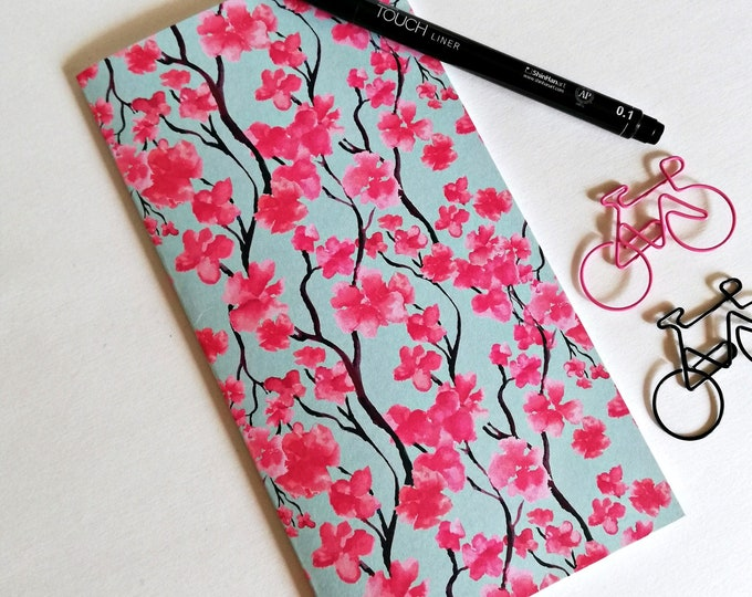 BLOSSOMS Travelers Notebook Insert - Fauxdori Midori Insert - TN Refill Accessory - Pink Floral - 9 Sizes - N534