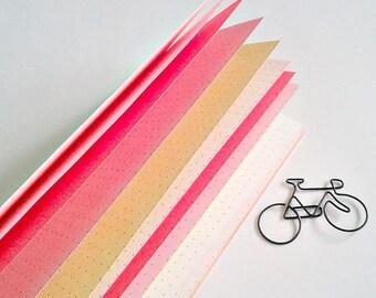 CHERRY BLOSSOM Traveler's Notebook Insert - Cream Cover - Coloured Paper Insert - Personal Log - Midori Refill - TN  Midori Insert - N231
