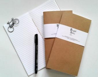 Travelers Notebook Insert - KRAFT - Midori Insert - Regular Standard Wide B6 Personal A6 Pocket Field Notes Passport Micro - N390