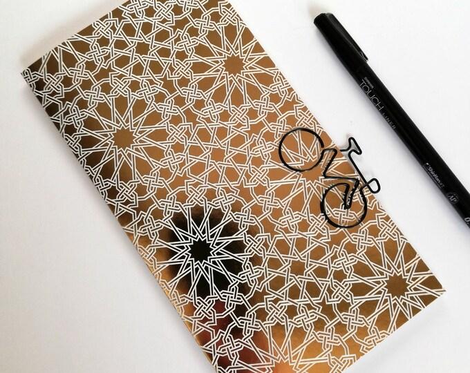 Travelers Notebook Insert - Gold Foil Midori Refill - TN Accessory - Regular Standard A5 B6 Personal A6 Field Notes Passport Nano - N476