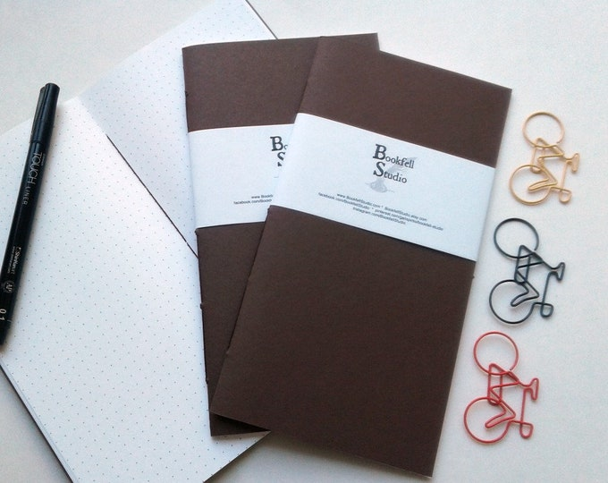 CHOCOLATE Travelers Notebook Insert - Fauxdori Insert - Regular Standard A5 Wide B6 Personal A6 Pocket Field Notes Passport Micro - N409