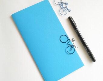 Turquoise Travelers Notebook Insert - Midori Insert - Regular Standard Wide B6 Personal A6 Pocket Field Notes Passport Micro Blue - N504