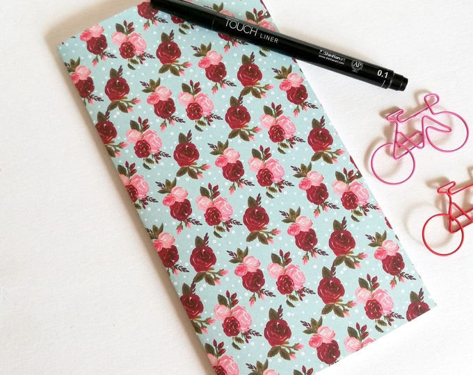 Travelers Notebook Insert PINK RED ROSES Travelers Notebook Refill Regular Standard A5 Wide B6 Personal A6 Field Notes Passport - N541