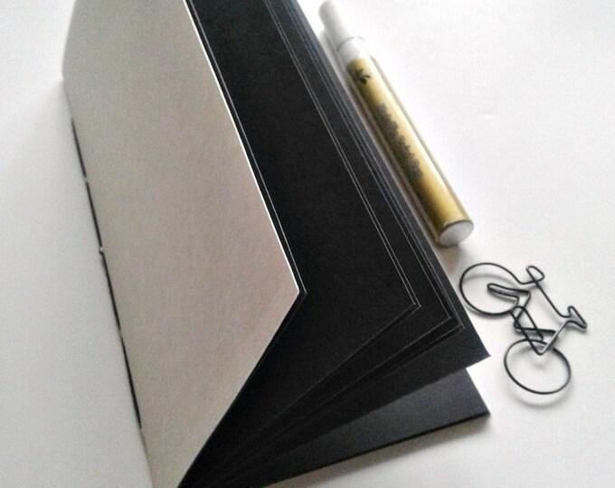 BLACK ART PAPER Traveler's Notebook Insert - Black Paper Insert - Black Strathmore Artagain Paper - Midori Refill - Coloured Paper - N220