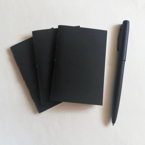 3 x NANO Traveler's Notebook Inserts - CHOICE of Covers - Random Inner Pages - Nano 3.75 x 2.5 - Fauxdori  Midori - RM201