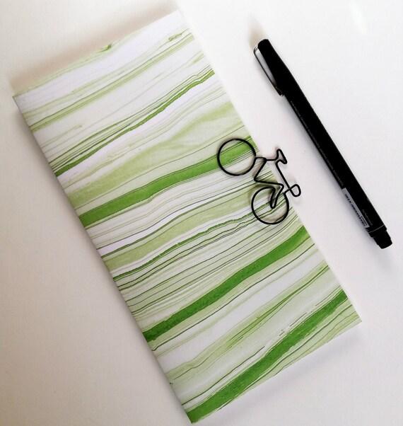 GREEN MARBLE Traveler's Notebook Insert - Bullet Journal - Gratitude Insert - Midori Insert - Personal Log - Midori Accessories - N494