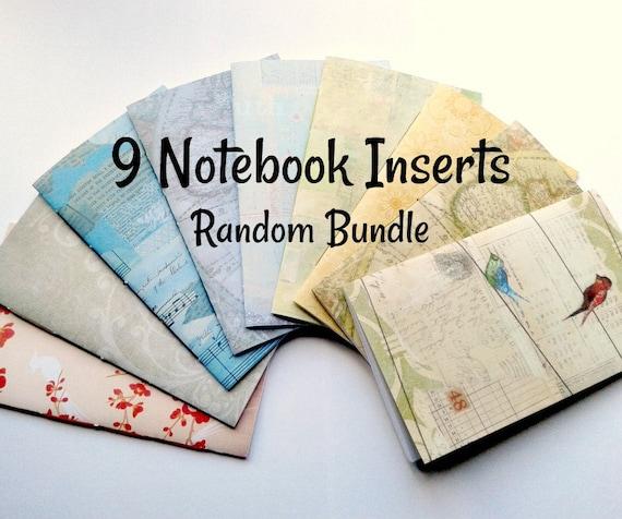 SET of 9 - Travelers Notebook Inserts - Bulk Bundle of 9 Random TN Inserts - Fauxdori Midori Inserts - Set of Midori Refills - RM100