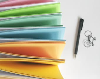 COLOURED Paper Traveler's Notebook Insert - TN Insert - White Cover and Coloured Pages - 10 sizes including B6, A6, Cahier, Standard - N573