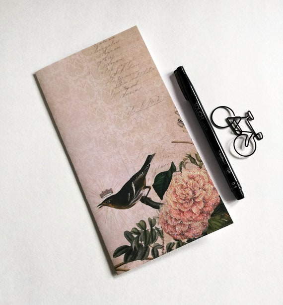 BIRD Travelers Notebook Insert - Fauxdori Midori Insert - TN Refill Accessories - Nature, Spring - 10 Sizes - N565