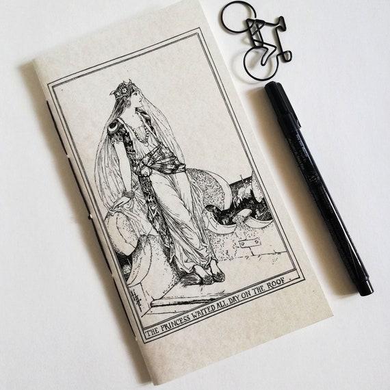 Travelers Notebook Insert THE PRINCESS Fauxdori Midori Insert - 9 Sizes including Standard B6 Passport Pocket A6 A7  - Fairy Tale - N637