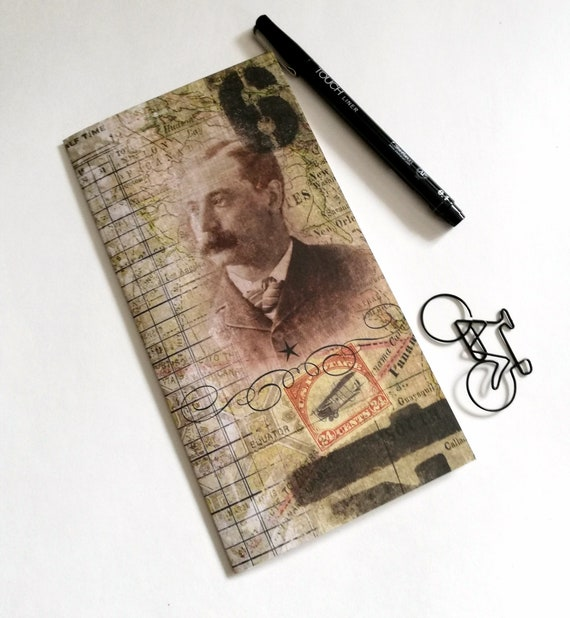 Travelers Notebook Insert - VINTAGE STYLE - Fauxdori Midori Insert - TN Refill Accessory - Tim Holtz - 10 Sizes including B6 and A5 - N560
