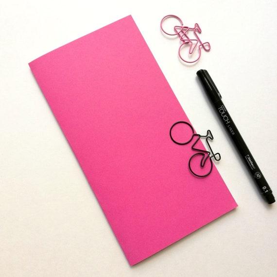 WILD STRAWBERRY Travelers Notebook Insert - Midori Insert - Regular Standard Wide B6 Personal A6 Pocket Field Notes Passport Pink - N526