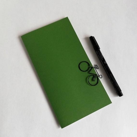 Travelers Notebook Insert - ENVY GREEN - Midori Insert - Sizes Regular Standard Wide B6 Personal A6 Pocket Field Notes Passport More  - N614