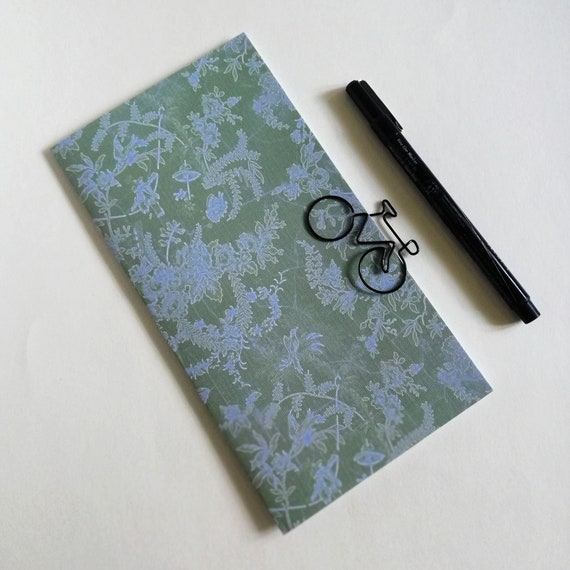 Travelers Notebook Insert, Green and Blue, TN Refill, Sizes incl. A5, Standard, Cahier, B6, B6 Slim, Personal, Passport and more - N653