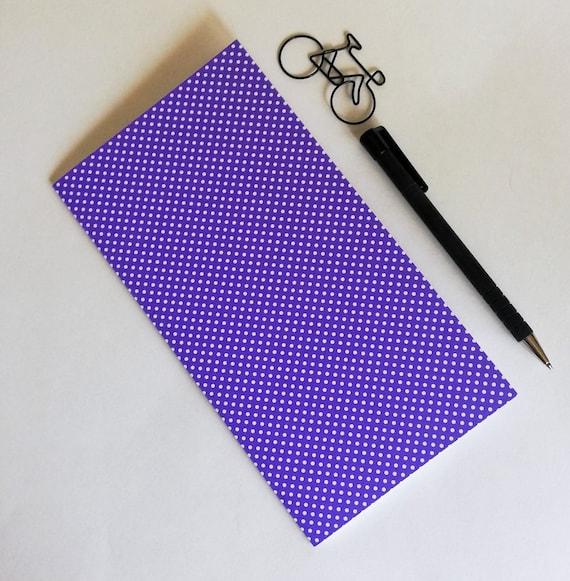 PURPLE DOT Travelers Notebook Insert - Fauxdori Midori Insert - TN Refill Accessory - Plum Violet Purple - 10 Sizes including B6 - N575