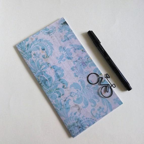 Travelers Notebook Insert BLUE DAMASK Travelers Notebook Insert Regular Standard A5 Wide B6 Personal A6 Field Notes Passport Micro - N647